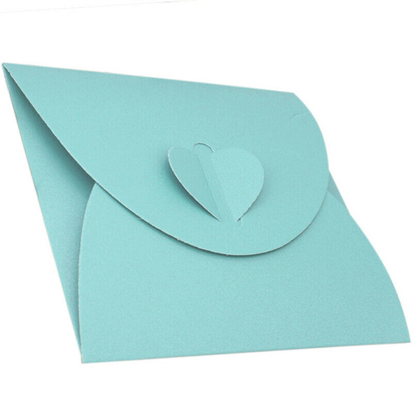 50Pcs Light Blue Kraft Paper Envelope Bag Peach Heart Single Piece Loaded W G9Q1