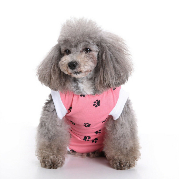 2x Small Medium Dogs Wear Clothes Dog Pajamas Post Sugery Wear Recovery Suit