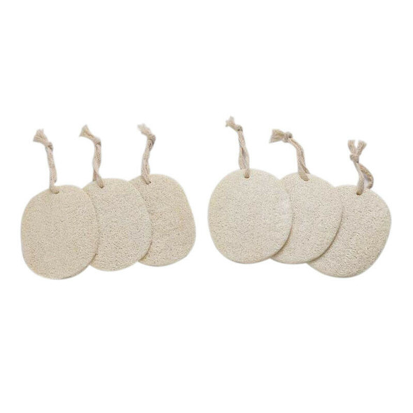 20Pcs/Package Natural Loofah Sponge Bath Shower Body Exfoliator Pads With H M7H7