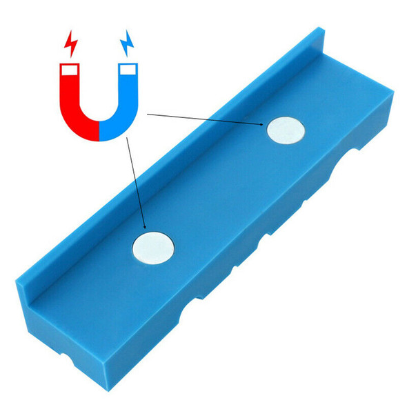2PCS 5.5Inch Universal Vise Jaws Magnetic Retention Vise Pads Urethane Soft S3O9
