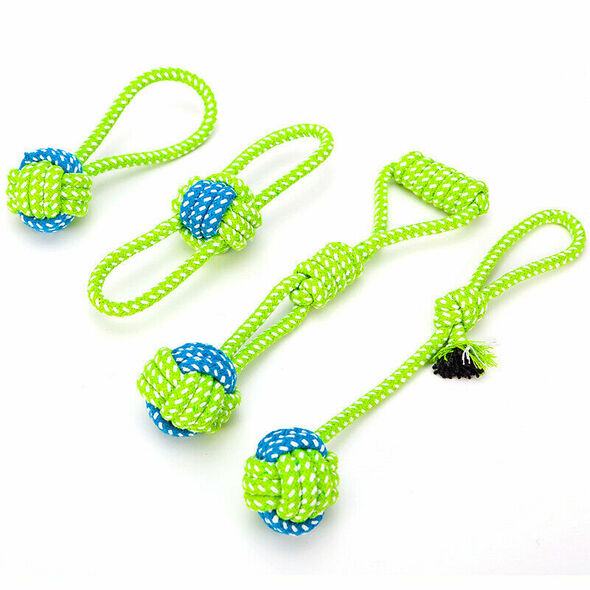 8Pcs Pet Dogs Rope Toys Cotton Knot Puppy Safe Chewing Teething Toys Teeth  M7J5