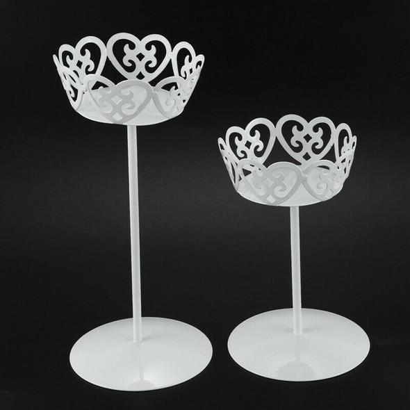 4pcs Mini White Dessert Stand with Premium Steel Material Cupcake Display,  N7R3