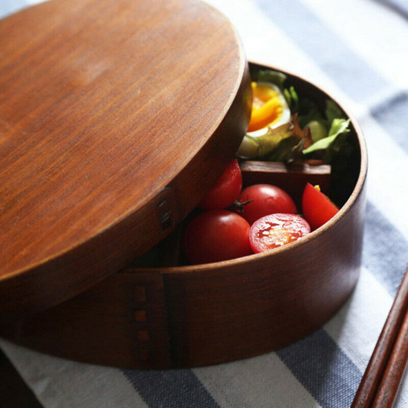 Wooden Lunch Boxs Food Containers Japanese Style Bento Lunchbox for Childre L1X7