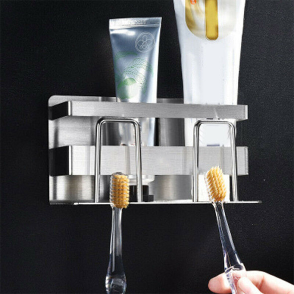 Toothbrush Stand Holder Organizer Toothpaste Cup Rack Hanger Sturdy Ba Well ZFM