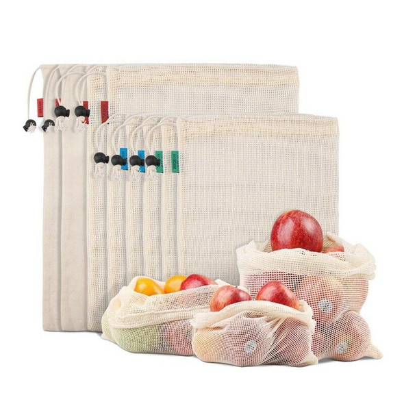Reusable Produce Bags For Fruit,Veggies,Fridge Organizing,Toys,Lightweight& H9D1