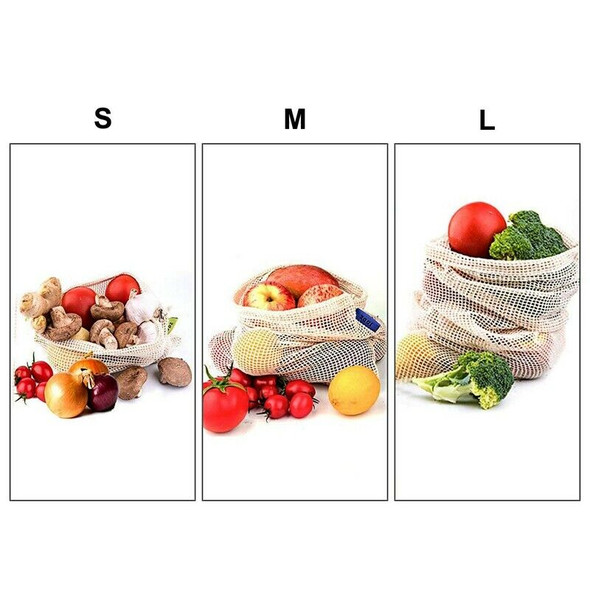 Reusable Produce Bags For Fruit,Veggies,Fridge Organizing,Toys,Lightweight& J4B7