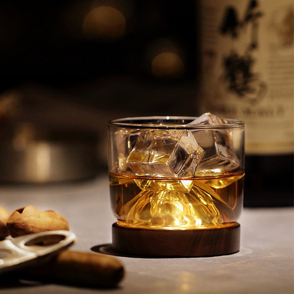 New Whiskey Glass Small Glass Japanese Style Mountain Wooden Bottom Wine Gl R7H9
