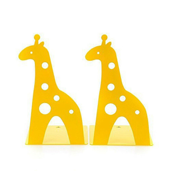 Cute Cartoon Giraffe Shape Non Skid Bookends Bookends for Shelves for Kids  C3A6