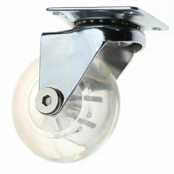 Transparent PU Caster Mute Universal Heavy Duty Furniture Wheel For Childre H6Q9