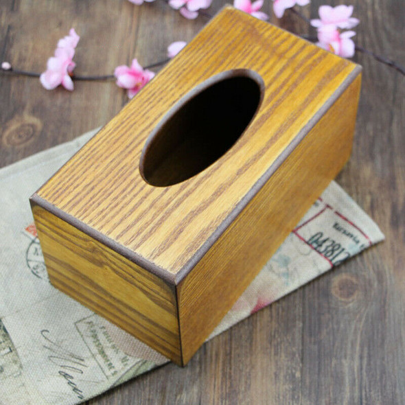 Simple Paper Towel Storage Box Wooden Drawer Tissue Box Home Kitchen Car Ba S8B9