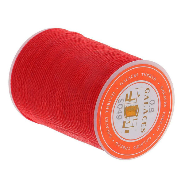 5pcs 55M 0.8mm Round Waxed Thread Wax String Leather Sewing Stitching Craft