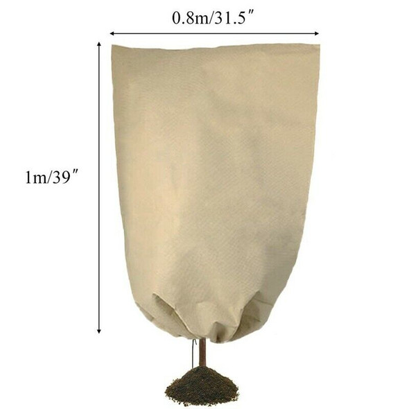 3Pcs Winter Plant Protection Cover Bags Warm Cloth Garden Fabric Protecting N2V8