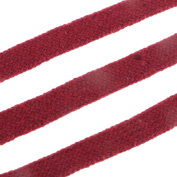 12mm Red Cotton Flat Cord Rope Cushion Clothing Upholstery Edging Trimming