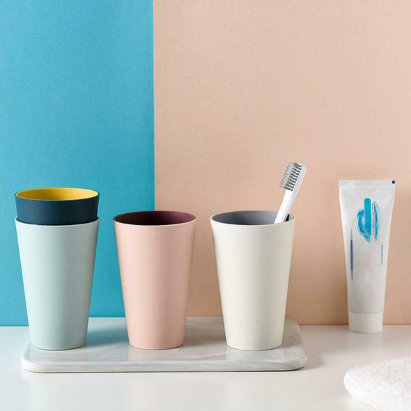4Pcs Solid Color Mouthwash Cup Toothbrush Holder Plastic Rinsing Water Mug