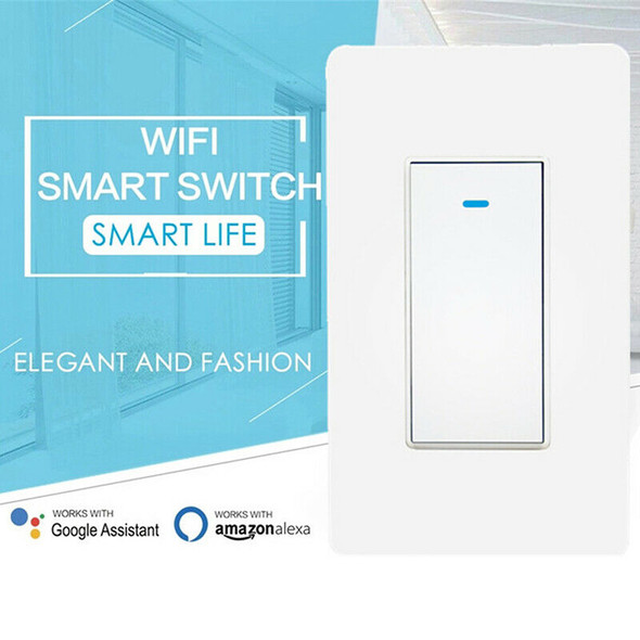 Smart Wifi Light Wall Switch Remote Panel Touch Control For Alexa Google HomeFT