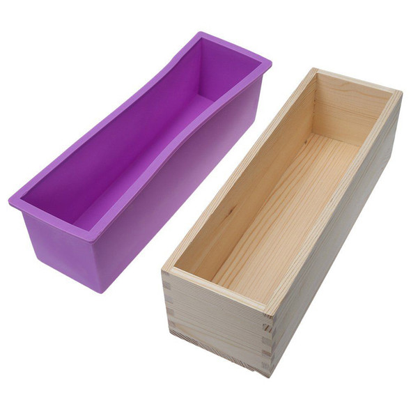 Wooden Loaf Soap Moulds Silicone Home Making Tools Baking Cake Biscuit Mou FEJ