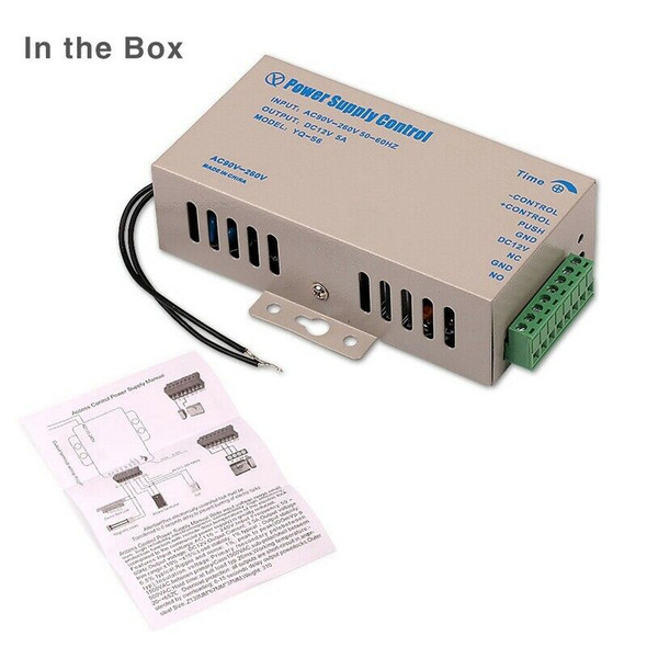 DC 12V 5A Access Control Power Supply AC 90-260V for Home Office Electric D S4N8