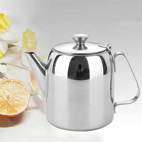 Stainless Steel Coffee Pot Cold Water Kettle Juice Pot Afternoon Tea Coffee T6N1