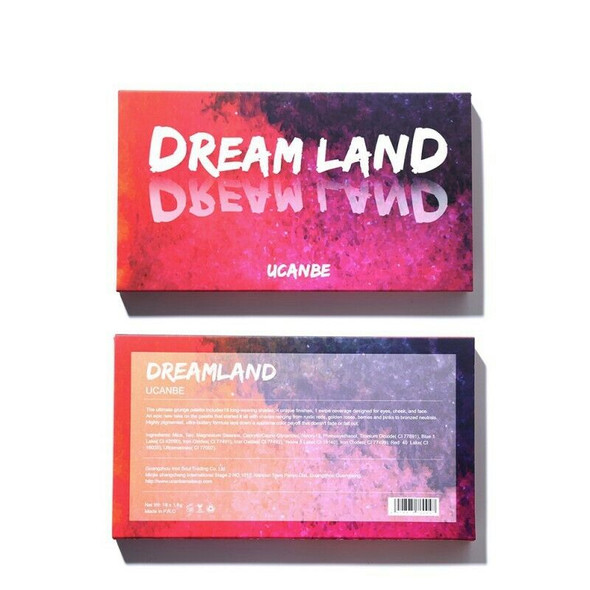 Ucanbe Shimmer Matte Dreamland Eyeshadow Makeup Palette 18 Color Purple Pin Q6W6