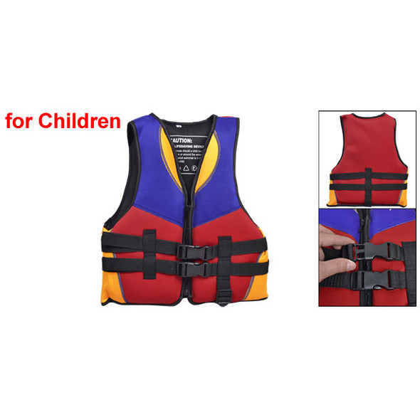 Red Blue Orange Water Sports Swimming Life Jacket Vest Size S for Children G8E6