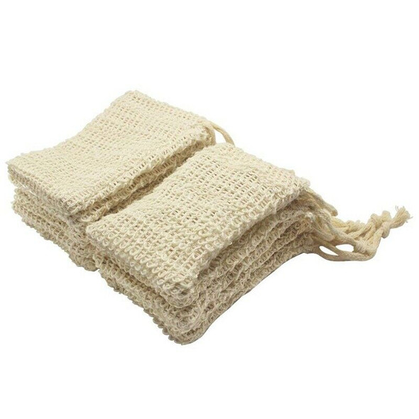 30 Pack Natural Sisal Soap Bag Exfoliating Soap Saver Pouch Holder Z9X2