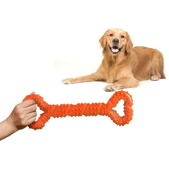 Durable Dog Chew Toys 13 Inch Bone Shape for Aggressive Chewers, Interactiv K2Y6