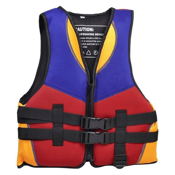 Red Blue Orange Water Sports Swimming Life Jacket Vest Size S for Children S4W7