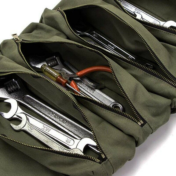 Roll Tool Roll Multi-Purpose Tool Roll Up Bag Wrench Roll Pouch Hanging Too G4C5