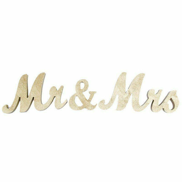 Mr & Mrs Sign Wedding Sweetheart Table Decorations for Wedding Photo Props  Q2X7