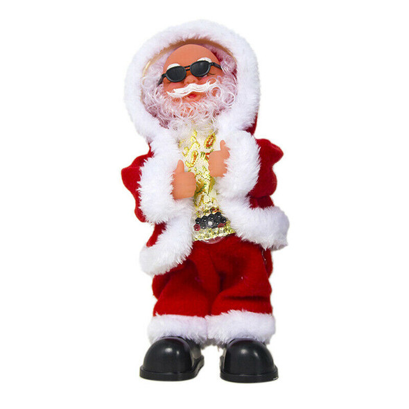 New Christmas Decorations Electric Shaking His Head Dance Santa Claus Music E4I7
