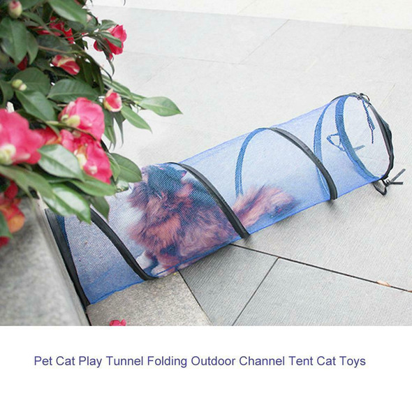 Tunnel Folding Cat Outdoor Toys Hamster Channel Small Play Pet Cat 3FZX Tent