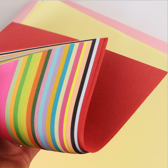 100pcs Square Colored Origami Folding Lucky Wish Paper DIY Crafts Tool 21X29.7cm