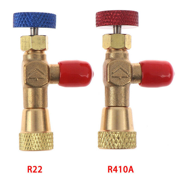 "2pcs R410A R22 Refrigeration Charging Adapter for 1/4"" Safety Valve Service BX"