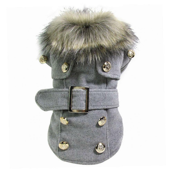 Dog Puppy Pet Warm Coat Thick Winter Puffer Jacket Clothes Apparel Gray M