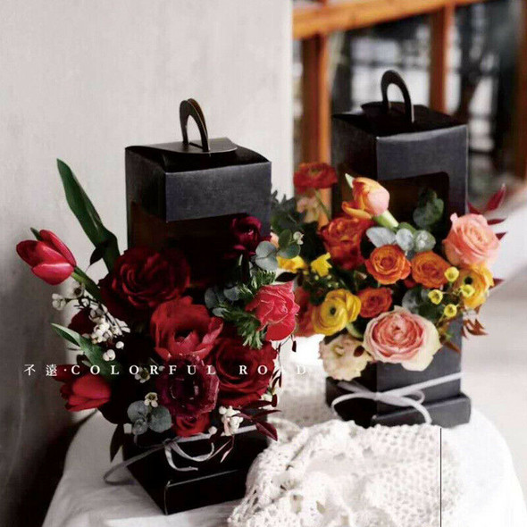 Lighthouse Portable Flower Paper Box Folding Floral Box Packaging Flower Ba B4H3