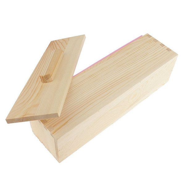 DIY Handmade Soap Silicone Mold - Rectangular Soap Mold with Wooden Box and G5U4