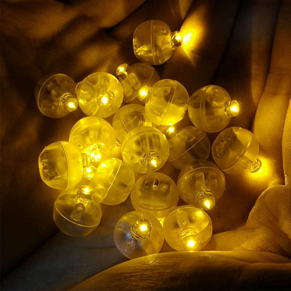 100pcs Mini Led Lamps Flash Balloon Light With Battery Luminous Lantern For F7M5