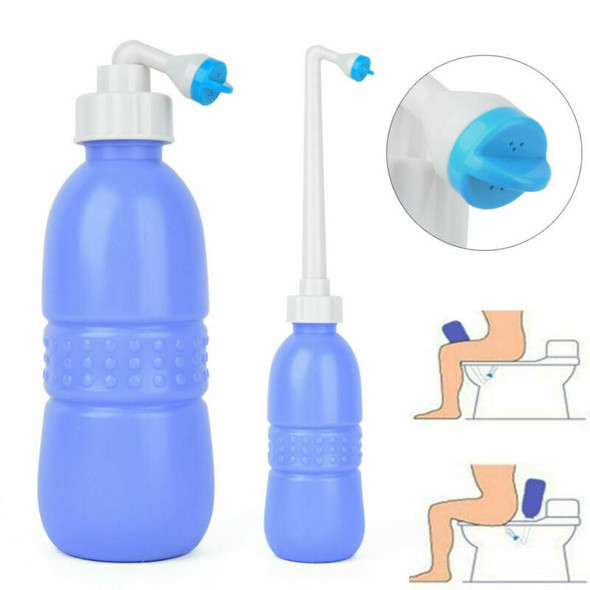 650ml Portable Washer Bottle Handheld Bidet Toilet Water Sprayer Cleaning Tool