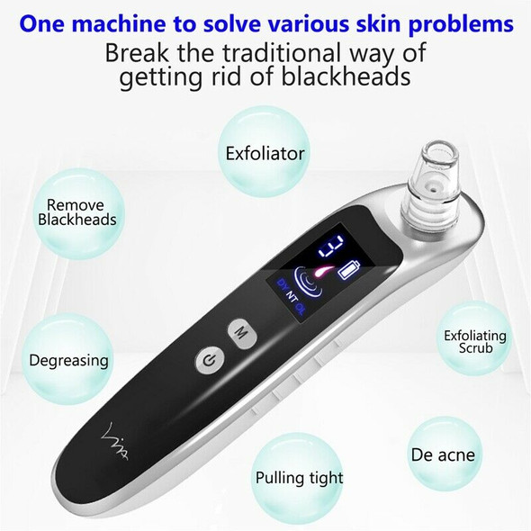 Face Nose Acne Black Dot Pimple Blackhead Remover Electric Blackhead Vacuum Y4J7