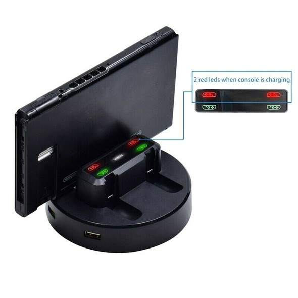 MultiFunction Handle Charger for Nintendo Switch Joy-Con Handle Charger ,4  V8V8