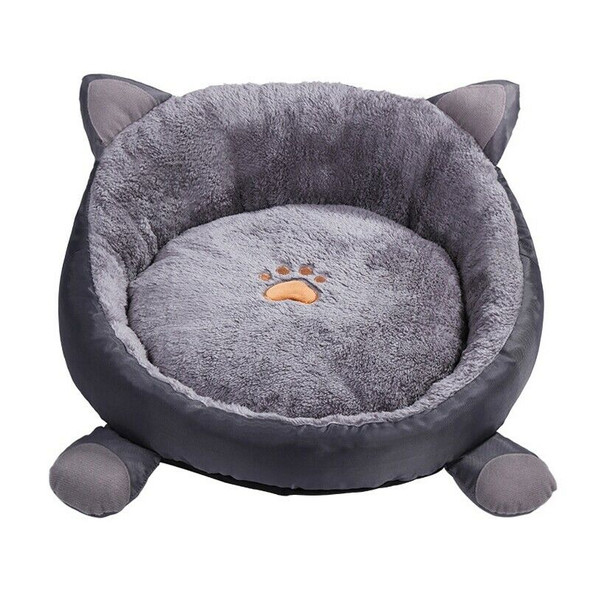 Cat Warm Bed Velvet Comfortable Ear Shape Kennel for Puppy Cama Gato Lovely A7S9
