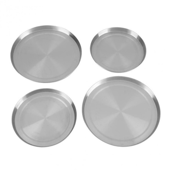 4Pcs/Set Stainless Steel Kitchen Stove Top Covers Burner Round Cooker Prote U7B2