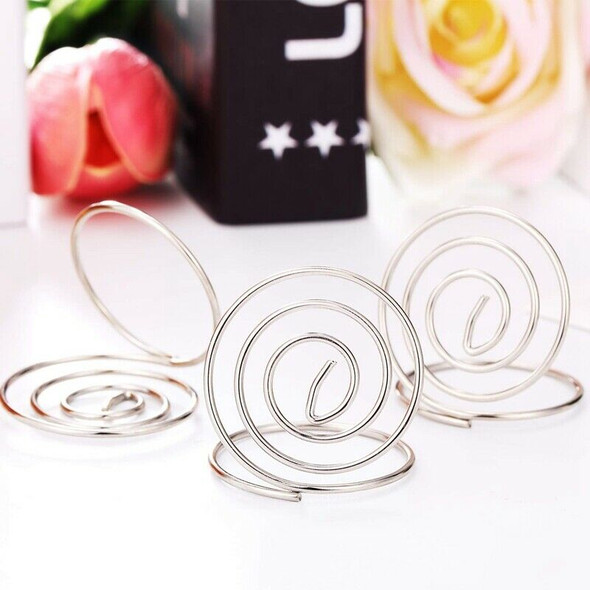 4X(20 Pieces Wire Place Card Holder Metal Card Holder Stand Wedding Name PlQ7B3)