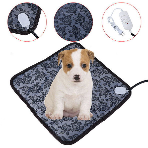Pet Heated Warm Pad Puppy Dog Cats Large Electric Waterproof Bed Mat Heater M BX
