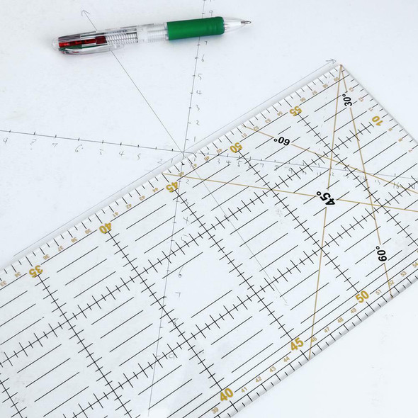 DIY Acrylic Handmade Quilting Ruler Seam Sewing Patchwork Drawing Rulers A#S