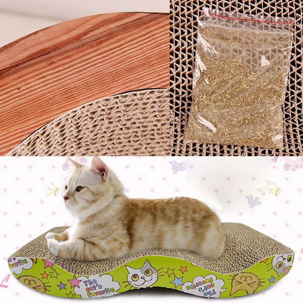 Cat Kitten Corrugated Scratch Board Pad Scratcher Soft Bed Mat Claws Care Toys A