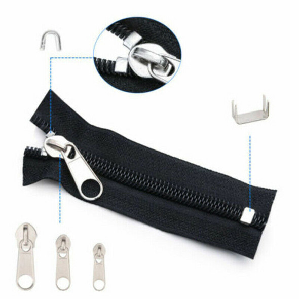 197Pcs Zip Slider Rescue Instant Repair Replacement Kit Household Usef JXE