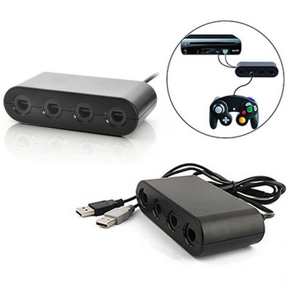 4Port GC Gamecube Controller to SPB Adapter Converter For Nintendo Wii U SP
