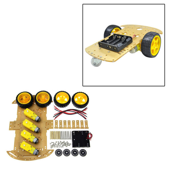 4-wheel Smart Robot Car Chassis Kits Chassis Auto accessories For Ardui WOA MET