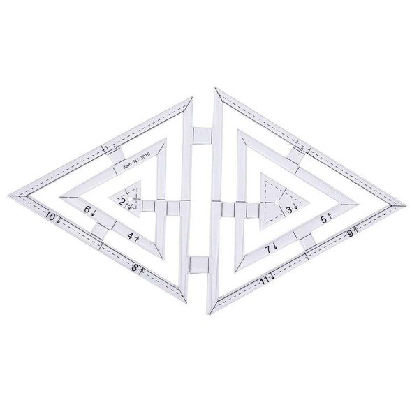 5pcs Acrylic Clear Twin Ruler Handmade Quilt Templates Patchwork Ruler Tool